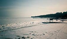 Free Frozen Beach Royalty Free Stock Photo - 23284145