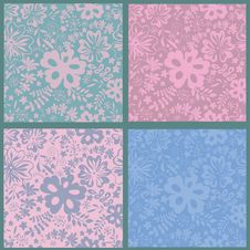 Free Floral Seamless Patterns Collection Royalty Free Stock Images - 23284249