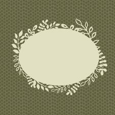Free Retro Floral Vignette Royalty Free Stock Images - 23284279