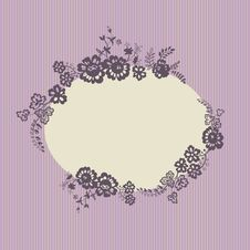 Free Retro Floral Vignette Royalty Free Stock Photo - 23284285