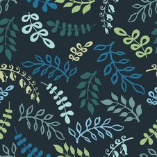 Free Twigs And Leaves Seamless Pattern Stock Photos - 23284293