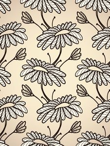 Free Seamless Pattern With Chamomiles Royalty Free Stock Photos - 23285158