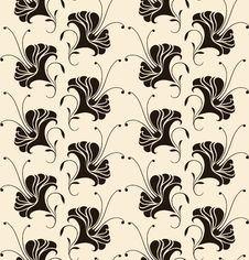 Free Seamless Pattern With Lilies Stock Photography - 23285182
