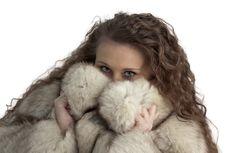 Free Girl In Fur Royalty Free Stock Photo - 23286285