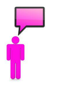 Communication 3D Concept Stock Images