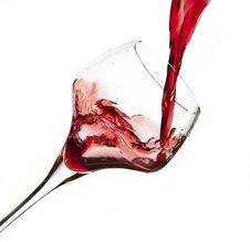 Free Red Wine Pouring Into Glass Stock Photos - 23289713