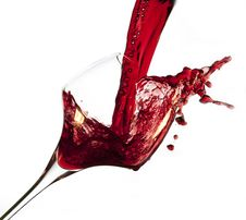 Free Red Wine Pouring Into Glass Stock Images - 23289714