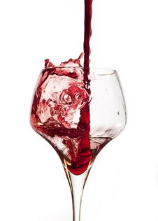 Free Red Wine Pouring Into Glass Royalty Free Stock Photo - 23289715