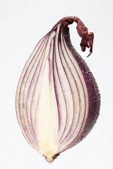 Cut Red Onion Stock Photos