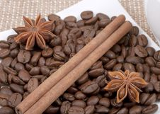 Free Coffee Bean, Cinnamon And Anise Stock Photography - 23290822