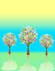 Beautiful Abstract Trees!