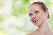 Beautiful Face Of A Healthy Young Woman Royalty Free Stock Image