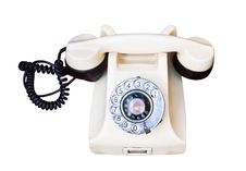 Free Old Telephone With Rotary Dial Royalty Free Stock Photography - 23293667