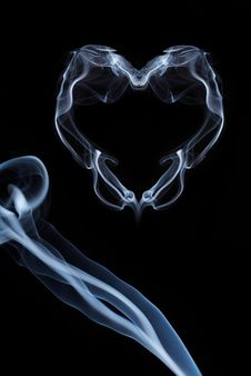 Smoke Heart For Valentine S Day Royalty Free Stock Photo