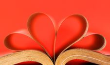 Heart-shaped Book Royalty Free Stock Images