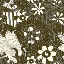 Free Seamless Floral Retro Pattern Stock Images - 23294924