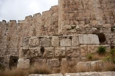 Free Jerusalem Old City Walls Royalty Free Stock Images - 23296899