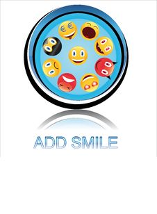 Button Add Smile Royalty Free Stock Image