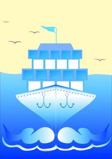 Free Cruise Ship Royalty Free Stock Photo - 23298575