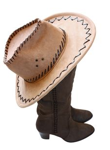 Free Boots And A Hat Royalty Free Stock Images - 23299419