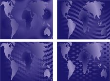 Free World Map Designs Royalty Free Stock Images - 2330029