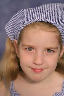 Free Cute Little Girl Portrait On B Stock Photo - 2330740