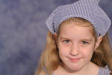 Free Cute Little Girl Portrait On B Stock Photos - 2330803