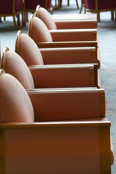 Free Row Of Sofa Chairs Royalty Free Stock Photography - 2331327