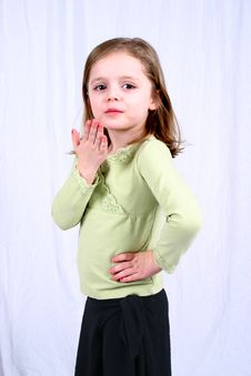 Free Cute Little Girl Blow Kiss Royalty Free Stock Photo - 2333565
