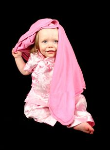 Free Cute Little Girl Hiding Royalty Free Stock Image - 2333586