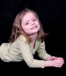 Free Cute Little Girl Laying Stock Photos - 2333593
