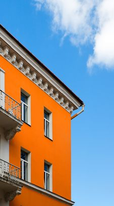 Free Orange Block Over Blue Sky Stock Photo - 2333620