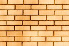 Free Orange Brick Wall. Royalty Free Stock Images - 2333839