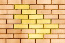 Free Modern Orange Brick Wall. Royalty Free Stock Photo - 2333845