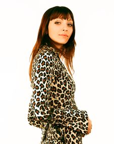 Free Woman In Leopard Dress Royalty Free Stock Images - 2335029