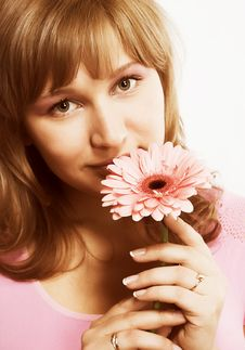 Free Woman With A Flower Stock Photos - 2335053