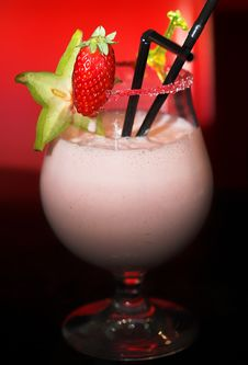Free Delicious Strawberry Milkshake Royalty Free Stock Photography - 2335157
