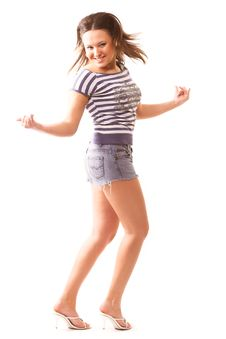 Free Dancing Girl Stock Image - 2335201