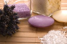 Free Lavender Bath Items. Stock Photos - 2335863