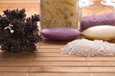 Free Lavender Bath Items. Royalty Free Stock Photography - 2335867
