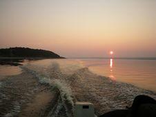 Sundown On River Royalty Free Stock Photos