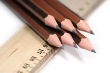 Free Sharp Pencils And Ruler Stock Photos - 2336743