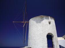 Free Santorini Windmill Royalty Free Stock Photography - 2336937