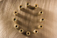 Circle From Twelve Details Royalty Free Stock Images
