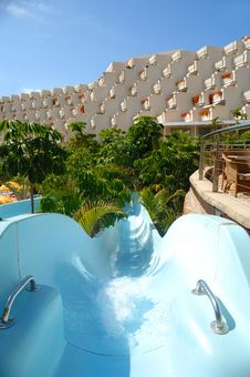 Free Slide At Hotel Resort Stock Photography - 2339222