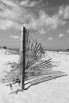 Sand Fence Stock Image