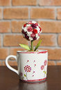 Free Cup Of Love With Roses Inside Stock Images - 23304494