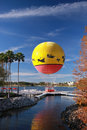 Free Multicolored Balloon Moored To Landing Stage Stock Image - 23308161