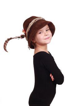 Free Little Girl In Alpine Hat Stock Image - 23301211