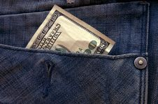 Hundred Dollars In Your Pocket Stock Images